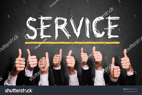 where to a service thumbs service stock photo 205018012