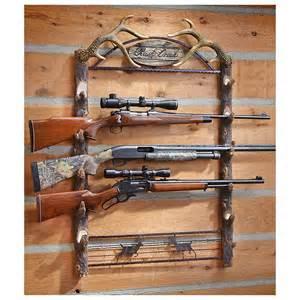 Gun Rack For Wall by 5 Gun Resin Wall Rack 625568 Gun Cabinets Racks At