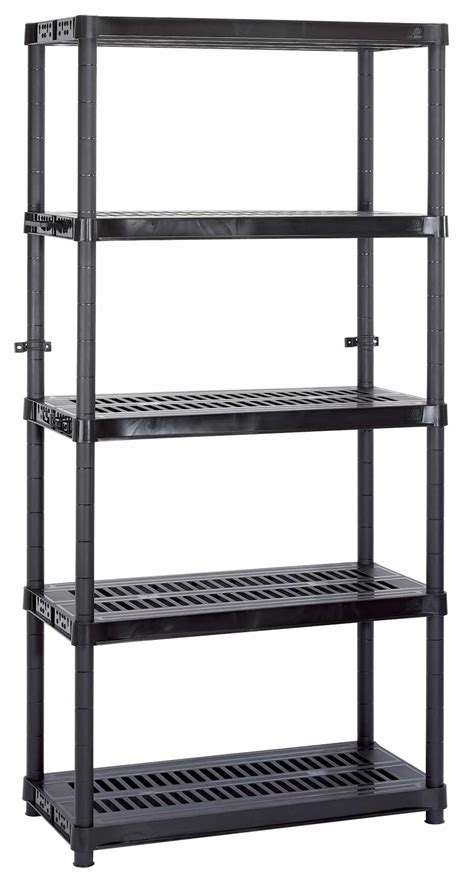 heavy duty plastic shelving expert heavy duty plastic shelving unit five shelves
