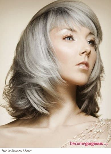 pretty gray midlength hair superb hairstyle preferred hair styles for gray hair