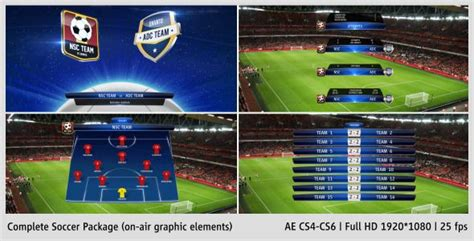 after effects project files complete on air soccer