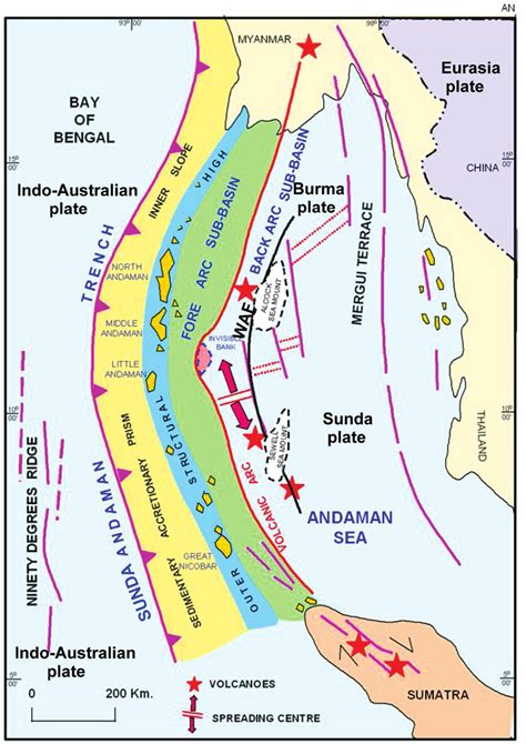 map of islands and surrounding area tectonic map of andaman and nicobar of islands and