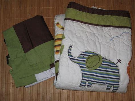Baby Gap Crib Bedding Baby Gap Quilt Crib Skirt Blanket Brown Green Jungle Safari Giraffe Hippo Babygap Ebay