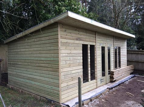 Midland Sheds 20x10 19mm pent ultimate tanalised summerhouses 2ft