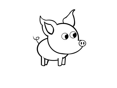 easy drawing how to draw a simple pig 9 steps with pictures wikihow