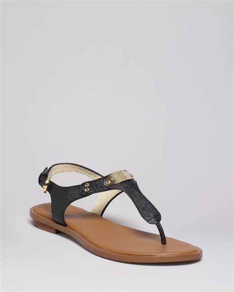 mk sandals for michael michael kors flat sandals mk plate in