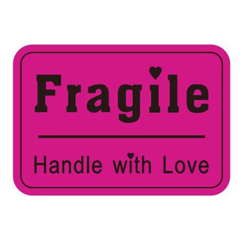 01 Fragile Sticker Label Stiker 500 pcs custom sticker 76x51mm warranty fragile sticker handle with label stickers in