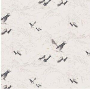 laura ashley wallpaper animalia silver  rolls  batch bird design ebay