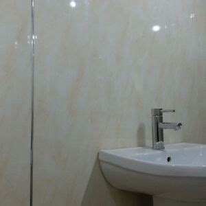 11 beige marble bathroom wall panels pvc plastic cladding - Bathroom Plastic Wall Covering