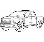 Wallpaper Pickup Truck Sketch