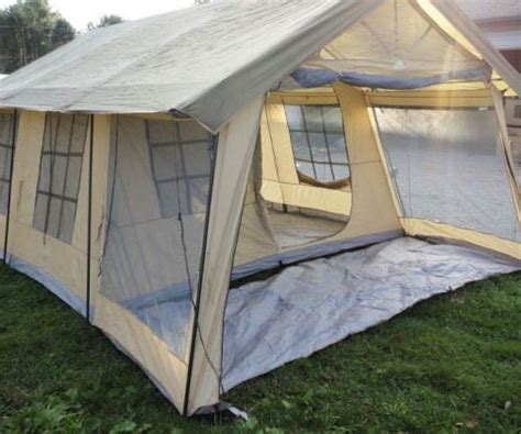 deck tent nesting in our cabin in the woods pinterest ten person cabin tent