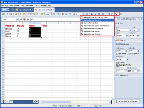 Lotus 123 Spreadsheet by Taking A Look At Ibm Lotus Symphony Spreadsheets Page 11