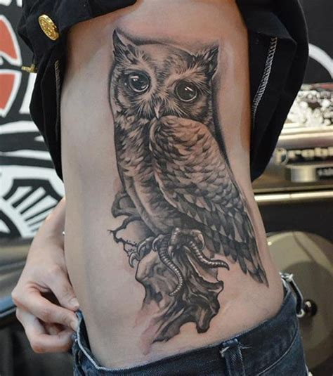 Owl Tattoo On Side | 71 best owl tattoos that you will fall in love with mens