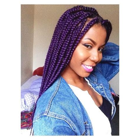purple box braids hair colors ideas buy two get one free perfect braiding hair unprocessed