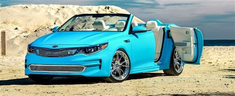 kia convertible 2016 kia optima convertible has doors for sema