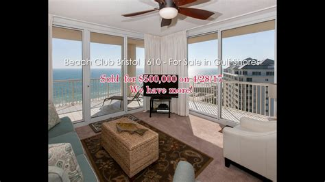 3 bedroom condos in gulf shores al sold beach club bristol 1610 gulf front 3 bedroom condo