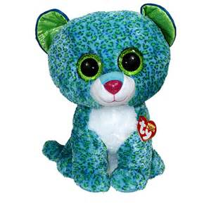 ty beanie boos leona leopard glitter eyes large