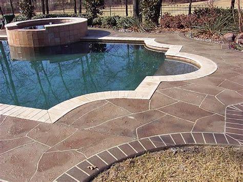 stone pool deck photo gallery concrete pool decks denton tx the