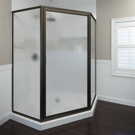 Shop Basco Framed Oil Rubbed Bronze Shower Door At Lowes Com Lowes Shower Doors