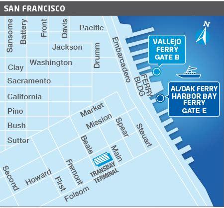 san francisco ferry map route san francisco bay ferry