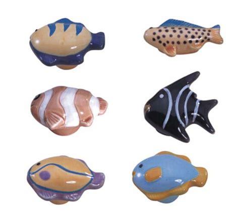 fish shaped drawer pulls children room cartoon knobs tropical fish shape ceramic