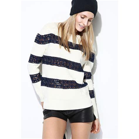 Sweater Combine lace knit combine sweater top