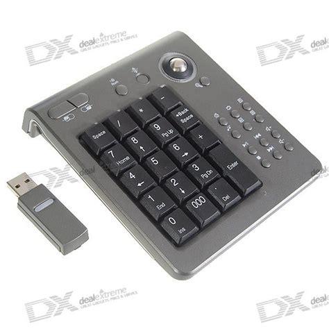 Numpad Usb 2 4ghz rf wireless usb numeric keypad numpad with multimedia buttons and trackball mouse free