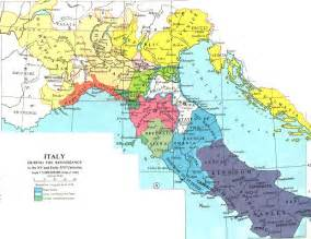 Map Of Renaissance Italy by Map Italy During Renaissance