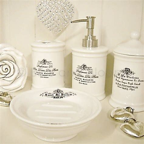french bathroom accessories sets french script 4pc bathroom set bliss and bloom ltd