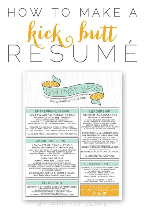 how to make a kick resum 233 creative design color and resume help