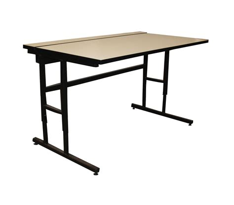 adjustable height c table fleetwood c leg adjustable height computer table with wire