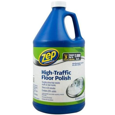 Zep High Traffic Floor Finish by Zep 128 Oz High Traffic Floor Zuhtff128 The Home Depot