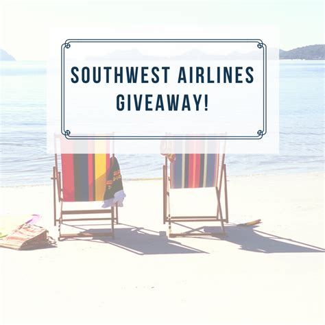 Southwest Giveaway - surprise trip with southwest airlines and giveaway the taylor house