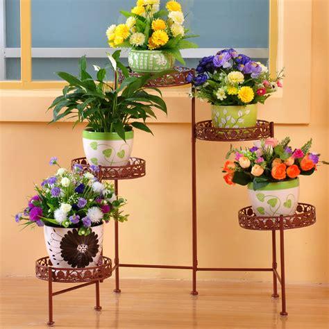Rak Besi Bunga benua besi rak rak rak promosi indoor dan outdoor pot
