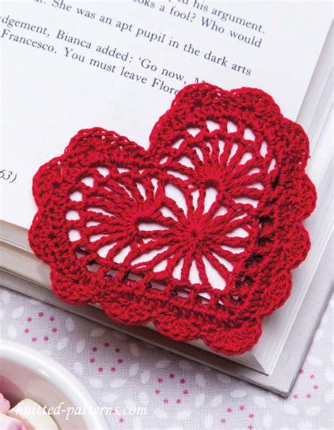 crochet heart pattern pinterest heart bookmark crochet pattern free crochet knitting