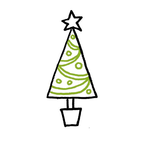 top 20 christmas tree drawing