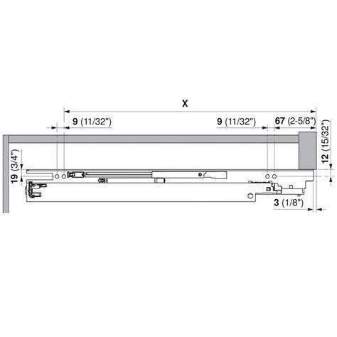 blum undermount drawer slides 12 blum 563h3050b 12 quot tandem plus blumotion 563h full ext