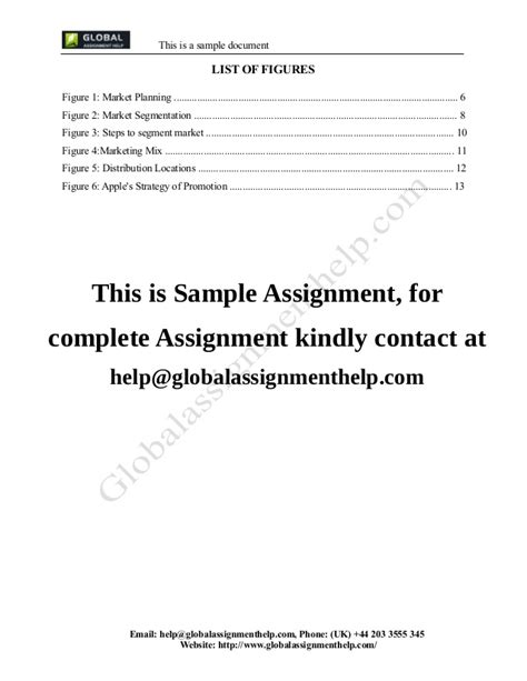 Mba Marketing Assignment Exles by Introduction To Marketing Assignment Sle