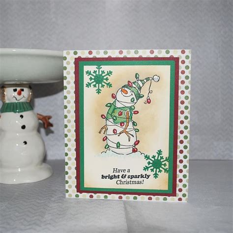 Handmade Snowman Cards - 17 best images about winter cards on