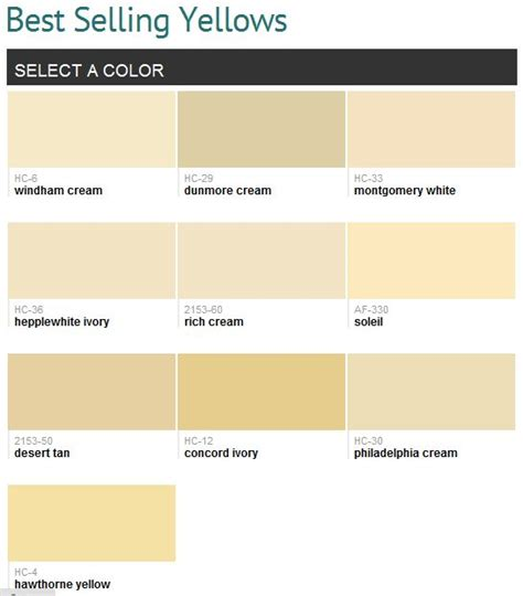 benjamin moore yellows best selling yellows benjamin moore to try pinterest