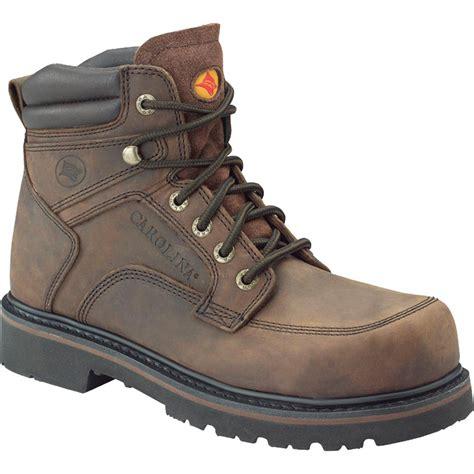 carolina mens work boots s carolina 174 6 quot steel toe oblique toe boots brown