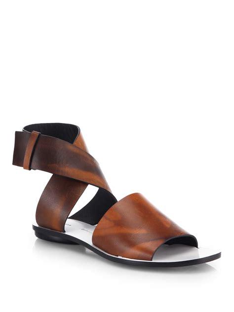 proenza schouler sandals proenza schouler leather crossover ankle sandals in