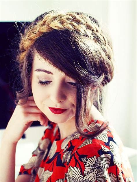 zoella hairstyles braids zoe sugg halo braid ombre i know how to do this and i