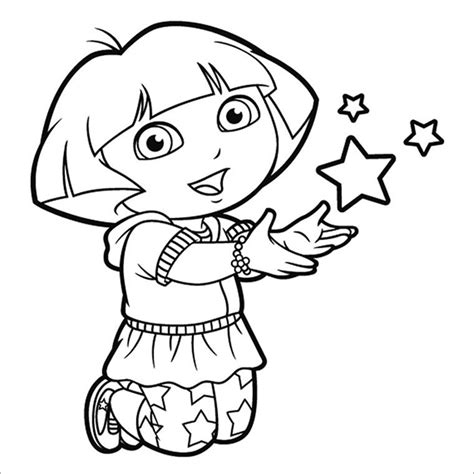dora coloring page pdf dora printable coloring pages free 21 dora coloring pages