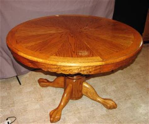 strongson furniture oak claw foot pedestal dining table 48
