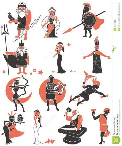 dioses griegosromanos ilustracion del vector ilustracion