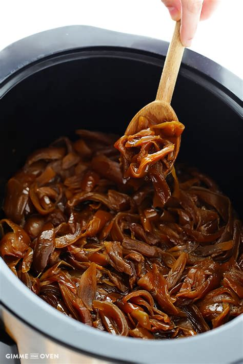 slow cooker caramelized onions gimme some oven
