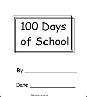 100daysoflove books 100th day of school a printable book enchantedlearning
