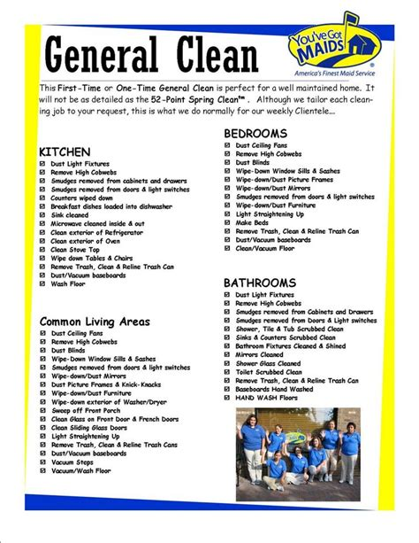 cleaning checklist free printable house cleaning charts you ve got general clean 3 organize