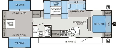 best rv floor plans 28 bunkhouse travel trailer floor plans the best